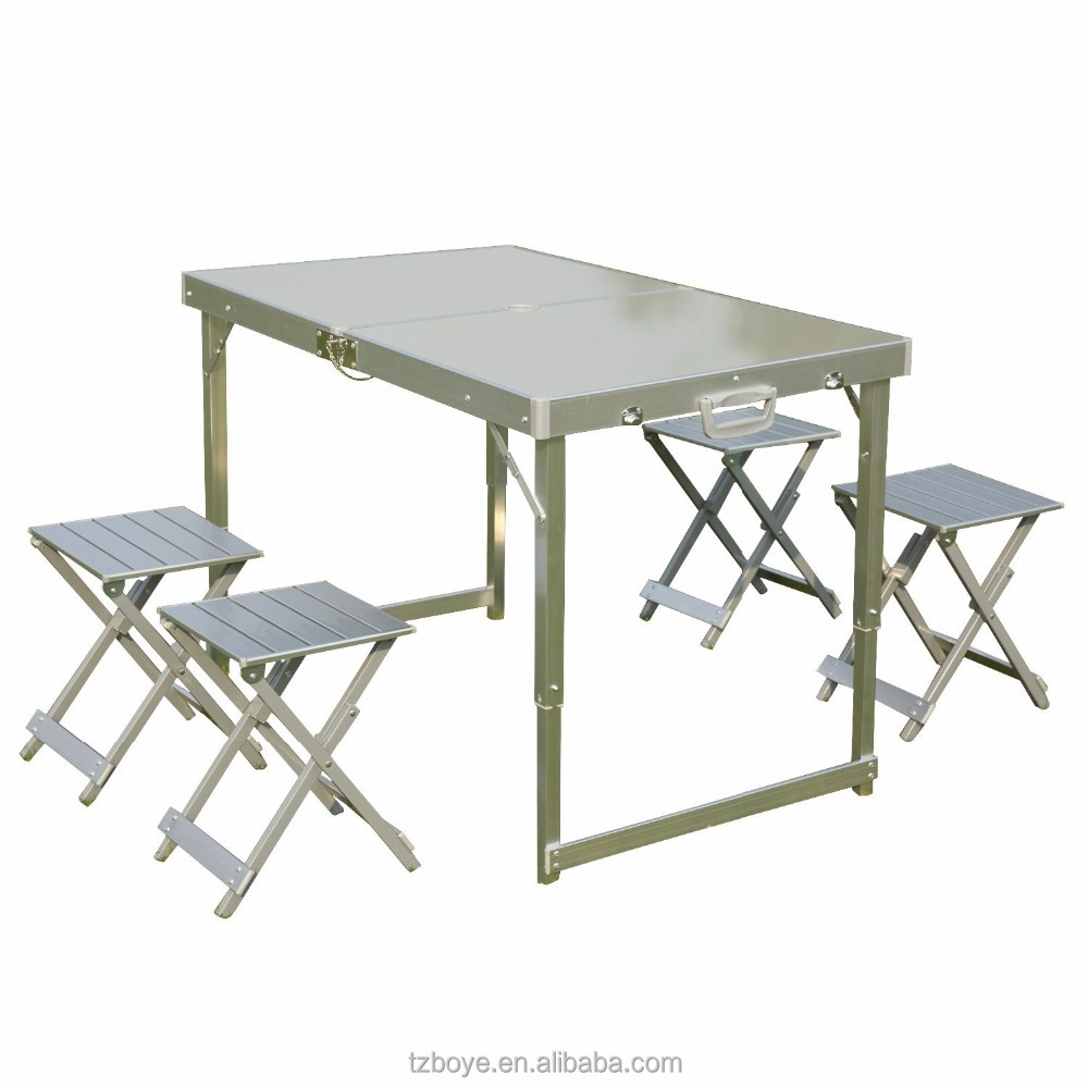 Aluminum Folding Picnic Table With Umbrella Aluminum Folding