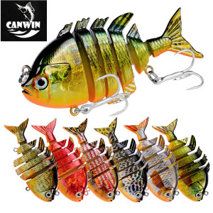 china fishing swimbait robot fish lure 6 segment plastic fishing lures