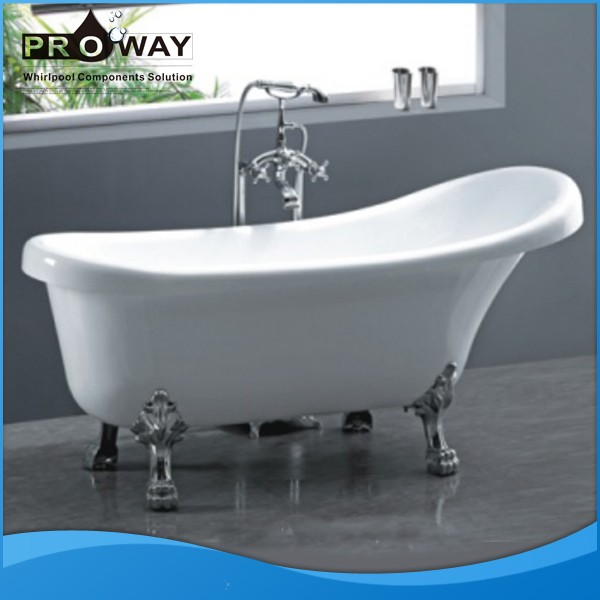 Acrylic Clawfoot Tub Portable Bathtub For Adult Free Standing Bathtubs