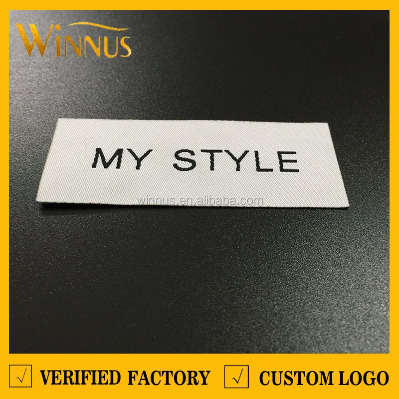 custom woven fabric iron on clothing labels