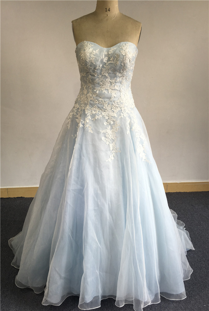 Light Blue And White Wedding Dress Wholesale, Wedding Dress ...