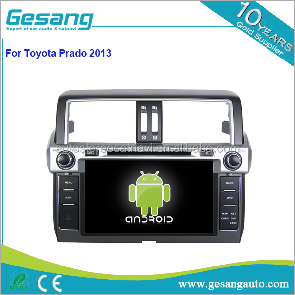 Android 6.0 system car dvd player for Toyota prado 150 2013 with GPS