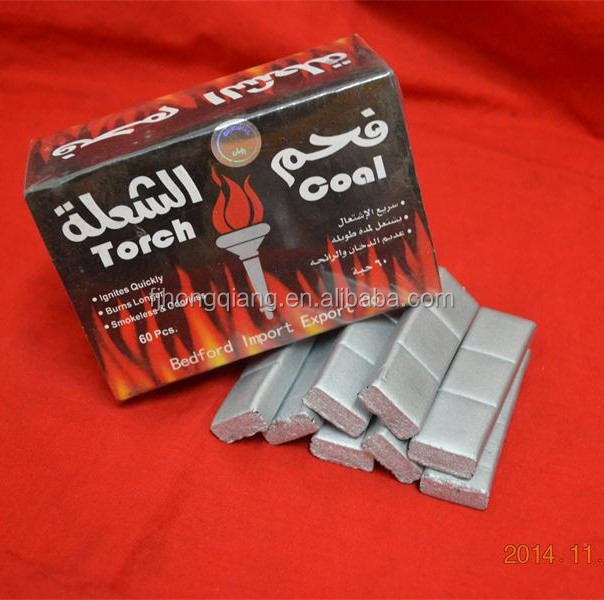 HQHS0060 HongQiang bamboo Torch /Flame /magic coal silver charcoal for shisha