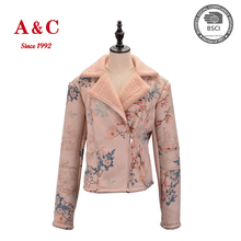 2017 Custom Ladie's Fashionable Printed Bomber Jacket