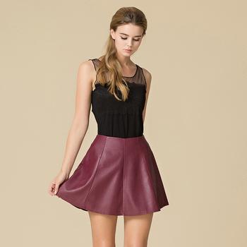 f90fead1c Las Mujeres Populares Diseños Personalizados De Cuero De La Pu Faldas Slim  De Cuero Mini Faldas - Buy Falda De Cuero De Alta Calidad,Faldas De Cuero  ...