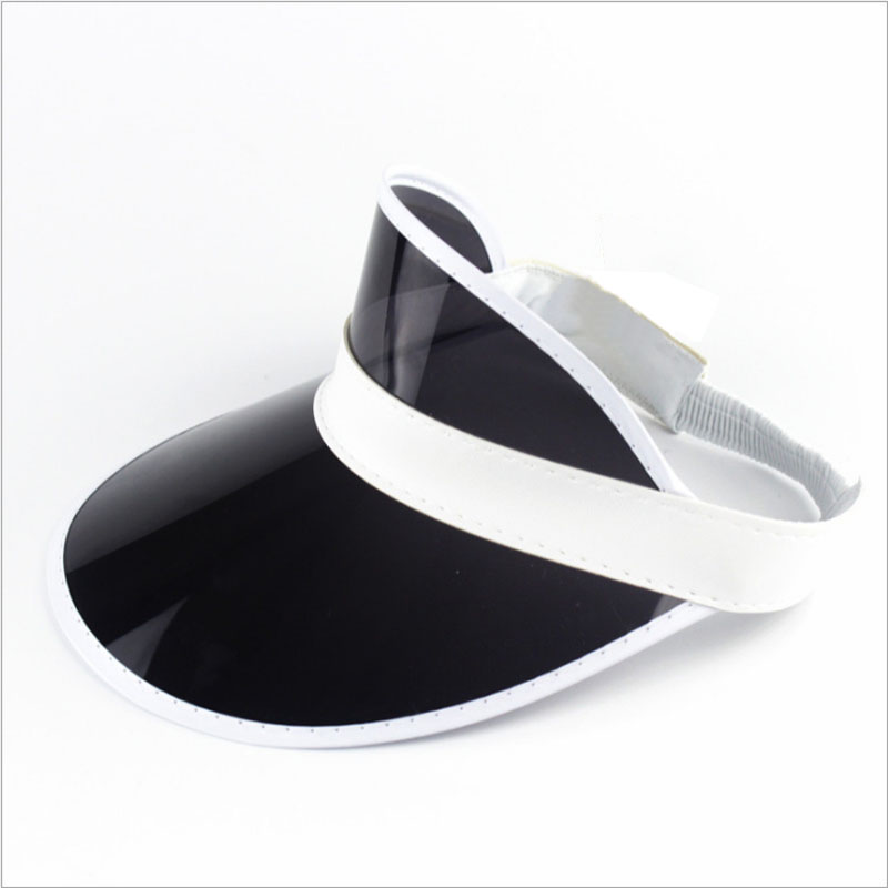 Classic Multicolor PVC Plastic UV Protection Hat Visor Sun Cap KDM-02