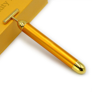 Japan Handheld 24k Gold Energy Beauty Bar Slimming Facial Vibrating Massager