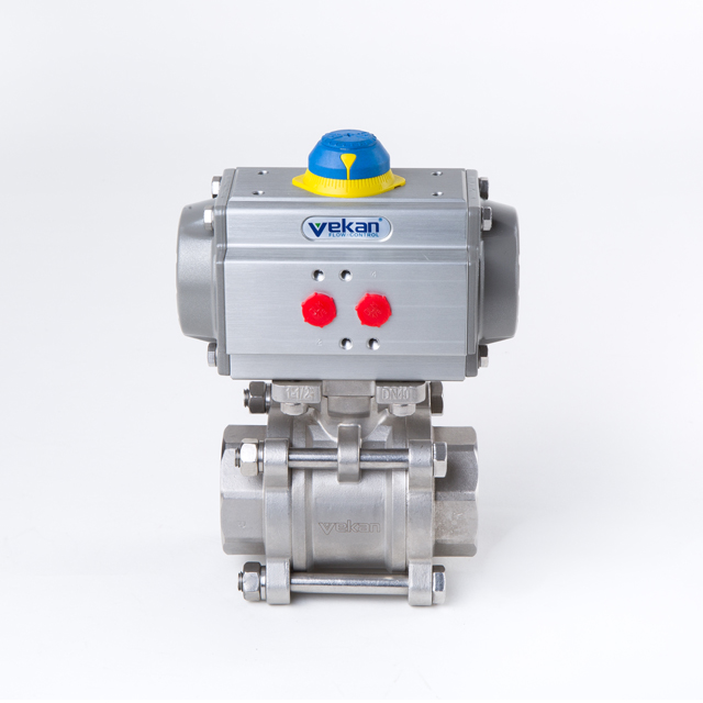 "Trustworthy 3 way Sanitary Pneumatic 1/4""-4"" Ball Valve from NAI-LOK"