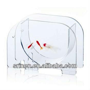 Elephant Shape Plexigl Acrylic Fish Bowl Tank