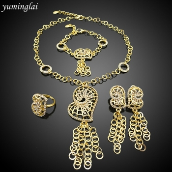 cheap price 14K jewelry gold plated costume african fashion jewelry sets
