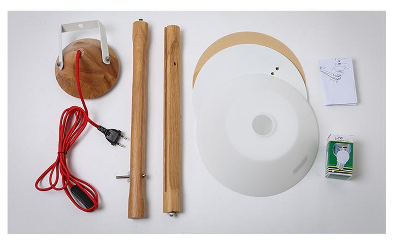 Moderne edison houten tafel lamp ontwerper verlichting met