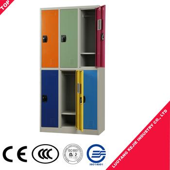 large storage capacity metal wardrobe locker steel student locker 6 door steel closets locker