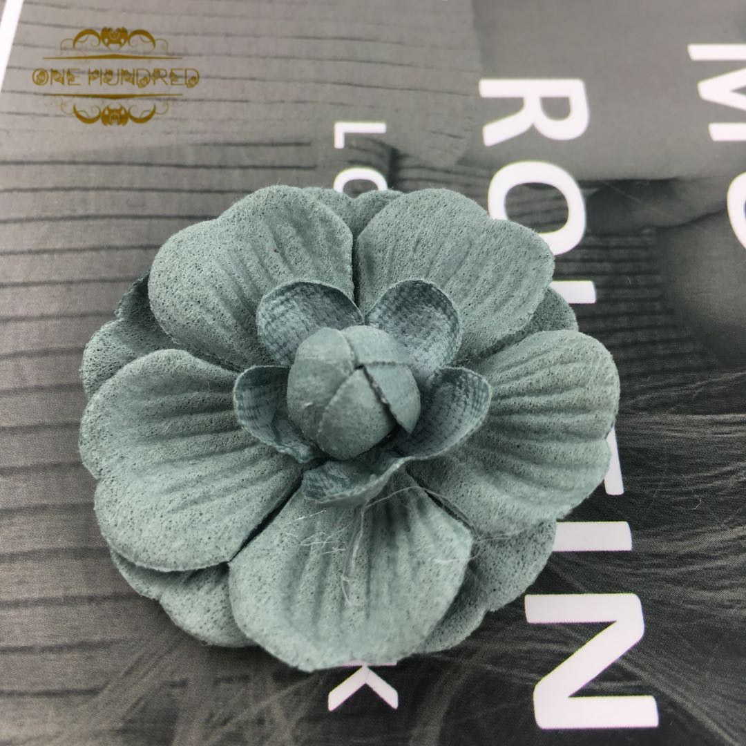 In Stock China factory custom fabric leather flower