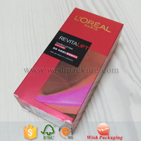 Gold foil logo Matte UV printing metallic silver cardboard foldable package tuck end paper cosmetic box