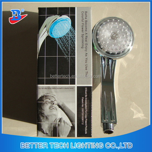 Bathroom Temperature colors change hand led shower head