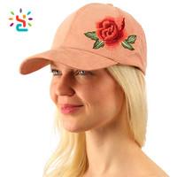 Floral Embroidery Velvet Plain Blank Baseball Sun Visor Cap Dad Hat For Sun Protection For All 4 Seasons