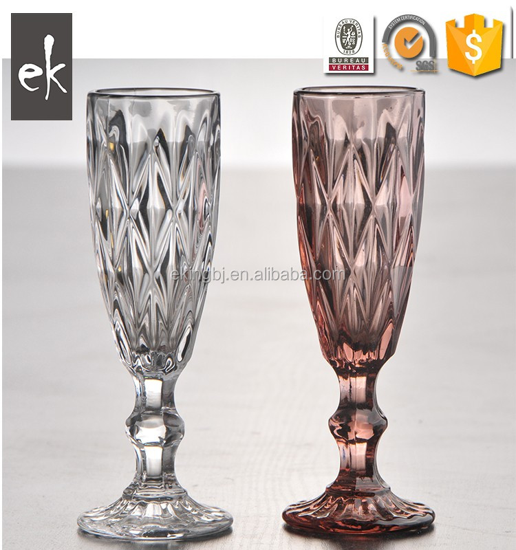 Crystal Colored Stem Wine Glasses Wholesale Glasses Goblet