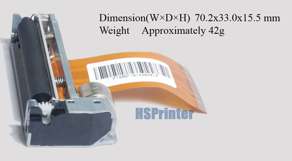 "2"" thermal printer mechanism Compatible with Fujitsu-628MCL101/103"