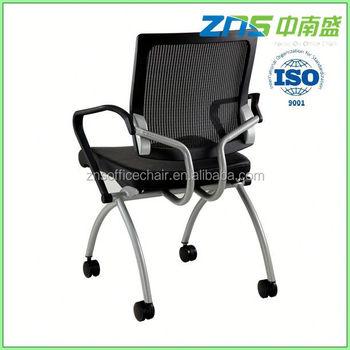 806 02 modern folding seat chrome cantilever frame office chair