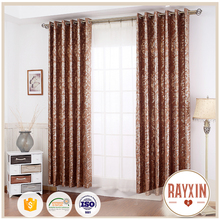 factory price gold stamp European style indian dubai window fabric curtain