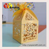 Unique eco-friendly paper hollow out bridal shower decorate favor box wedding candy boxes