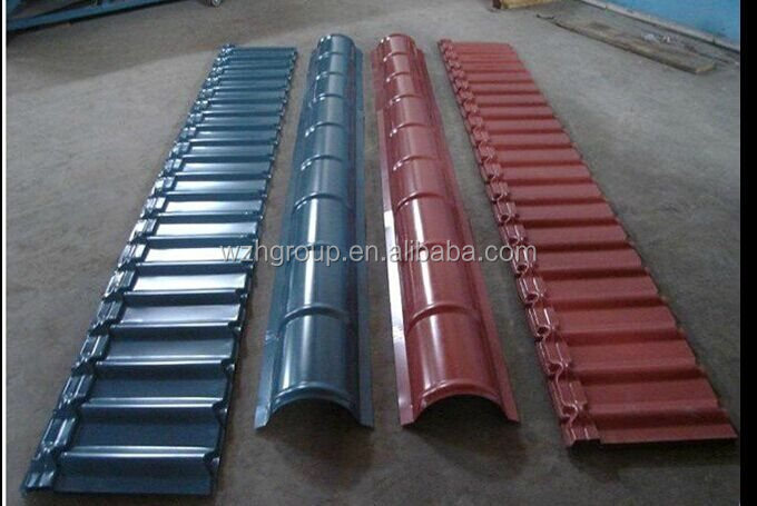 Color Coated Corrugated Long Roof Sheet With Ridge