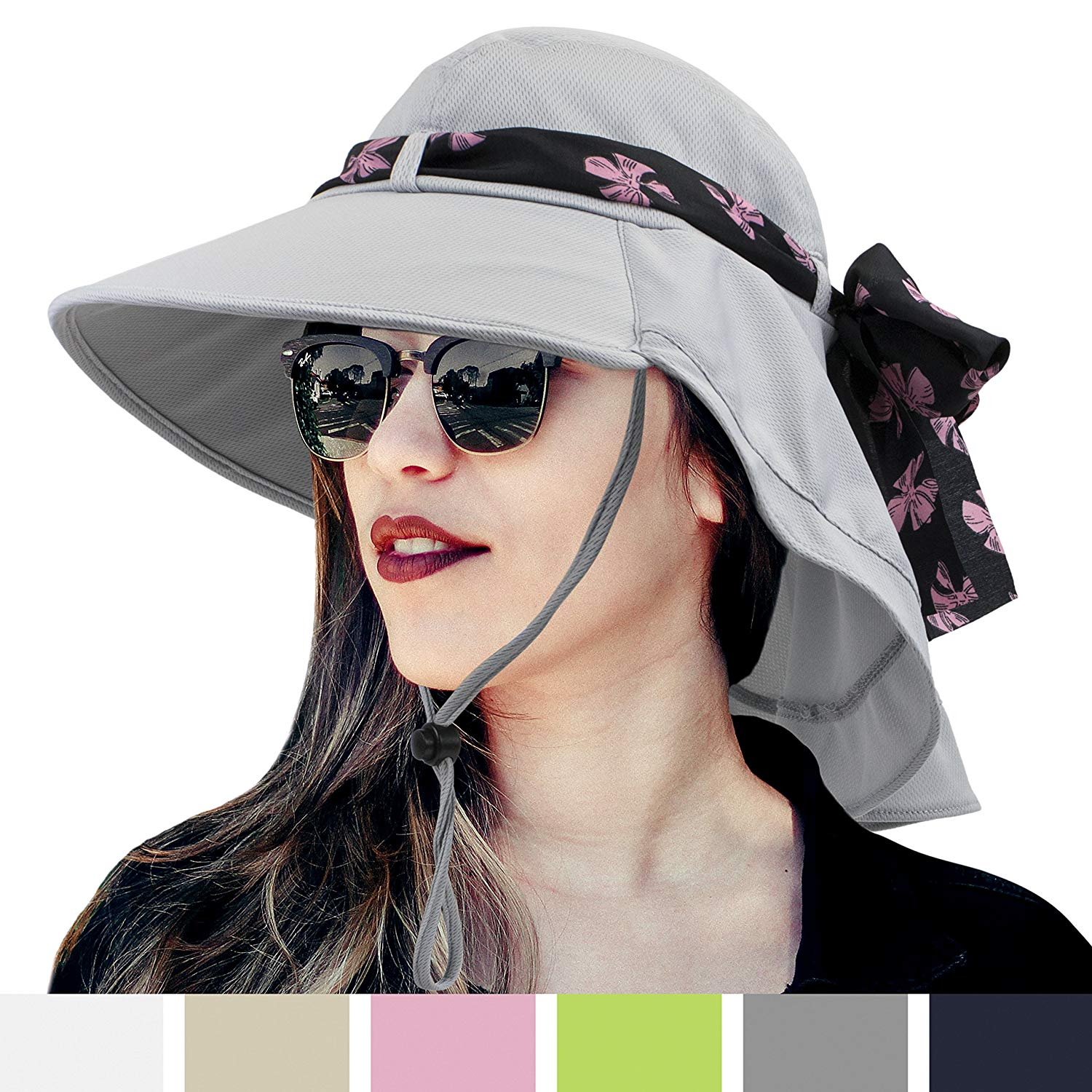 7d264e425f8c1 Get Quotations · SUN CUBE Womens Outdoor Sun Hat
