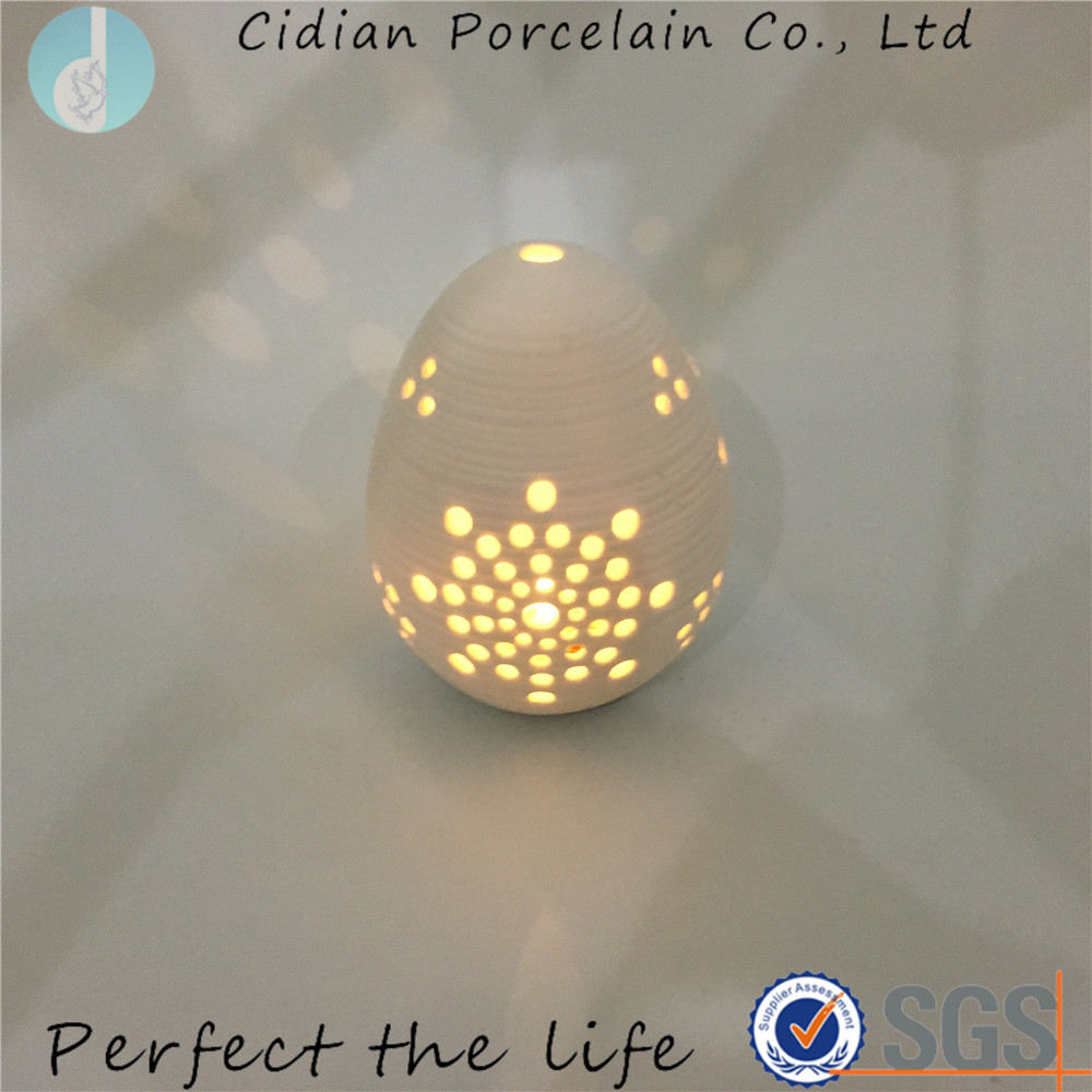Ceramic ball shaped night light for Christmas decoration