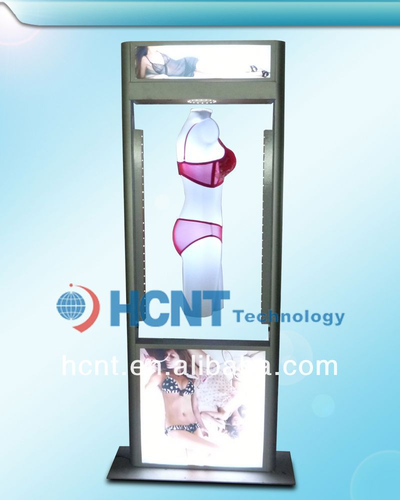 New Invention ! magnetic levitation led display rack for underwear, molded bra cup