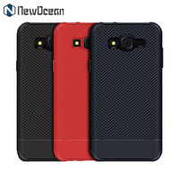 Hot selling Rubber Soft silicone carbon fiber phone back cover case for Samsung J7 CORE J7 NXT