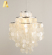 American style modern capiz white seashell lighting chandeliers made of sea shells for living room