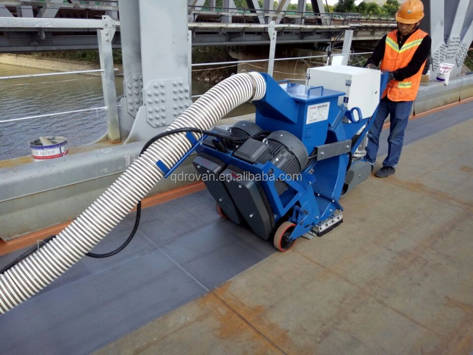 ISO9001&CE road marking line shot blaster, mobile floor shot blasting machine, steel plates cleaning machine