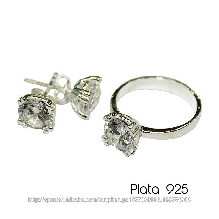 386ec54d7cc1 Set Anillo - Aretes Plata 925-Joyería de plata-Identificación del ...