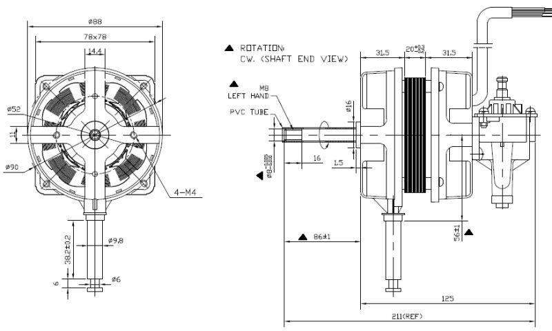 Ac220v Electric Fan Parts Stand Fan Motor High Speed Motor