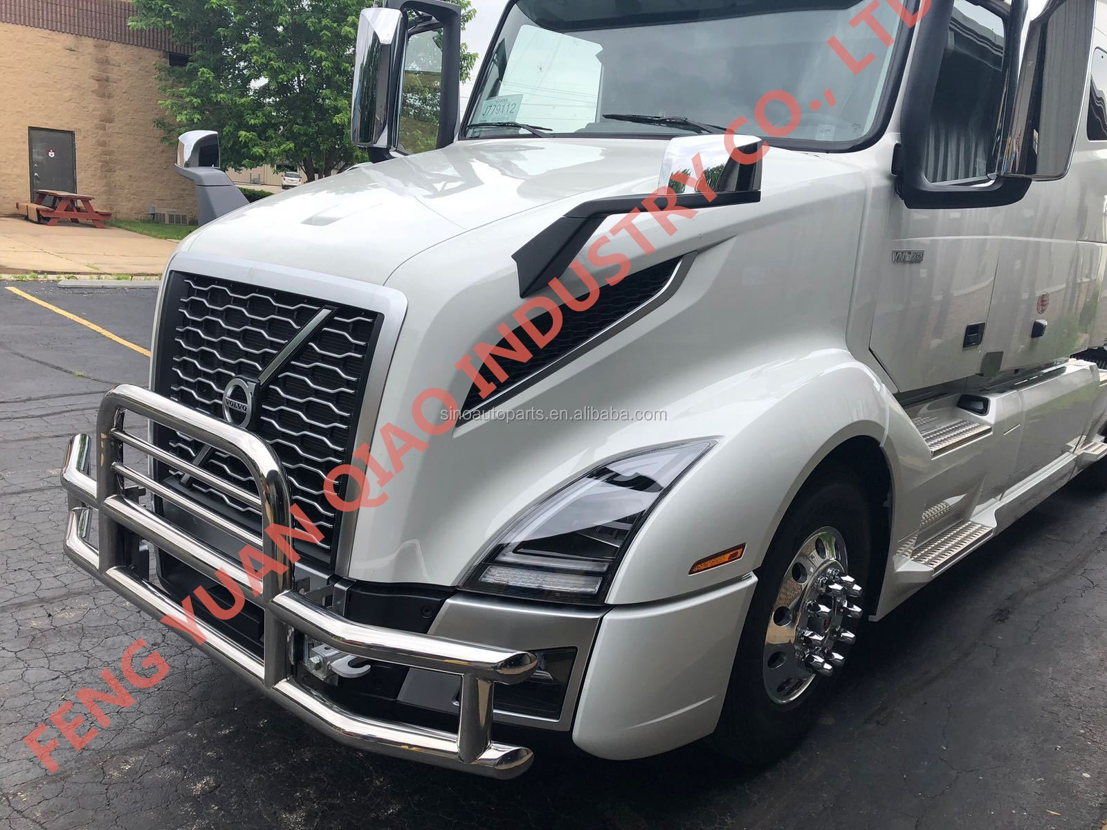 304 Stainless Steel Front Bumper Guard For 2018 New Volvo Vnl Vnr Truck  Deer Guard For 2018 New Freightliner Caascadia Truck - Buy New