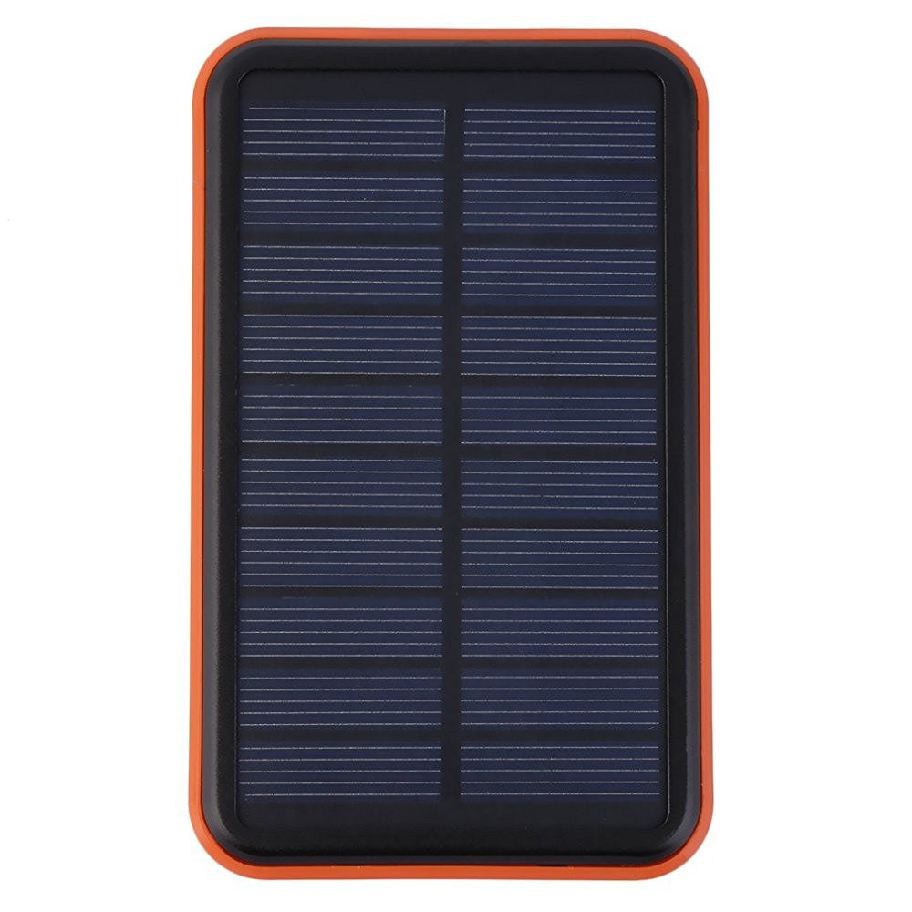 Vipwind Solar Power Bank 100000mah Solar Charger Waterproof Solar Power Bank Bateria Externa Solar Charger Powerbank for Cell Phone Power Bank - Orange