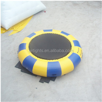 customized floating inflatable trampoline low price airtight water bouncer