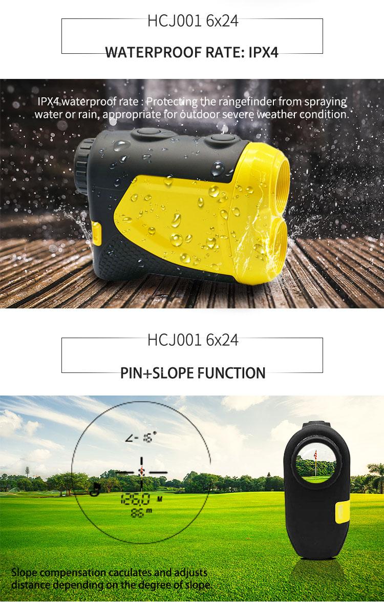 800 M Tahan Air Golf Laser Range Finder dengan Pin Pencari dan Pengukuran Kemiringan Golf Laser Rangefinder