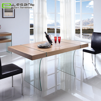 Amazing Ash Wood Veneer Dining Table With Clear Tempered Glass Legs Buy Dining Table With Wheels Acacia Wood Dining Table Sheesham Wood Dining Table With Download Free Architecture Designs Rallybritishbridgeorg