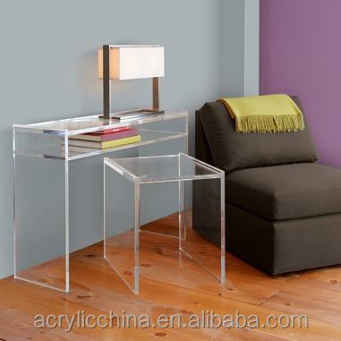 stijlvolle woonkamer meubels helder acryl nachtkastje lucite