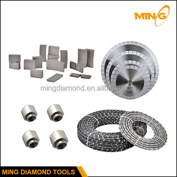 Diamond Tools Sintered Segmented Beads Diamond Wire Saw For Granite ...