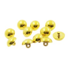 Top quality plastic abs plating gold custom mushroom15mm sewing button