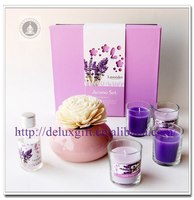 Heart shape ceramic bath and body gift set