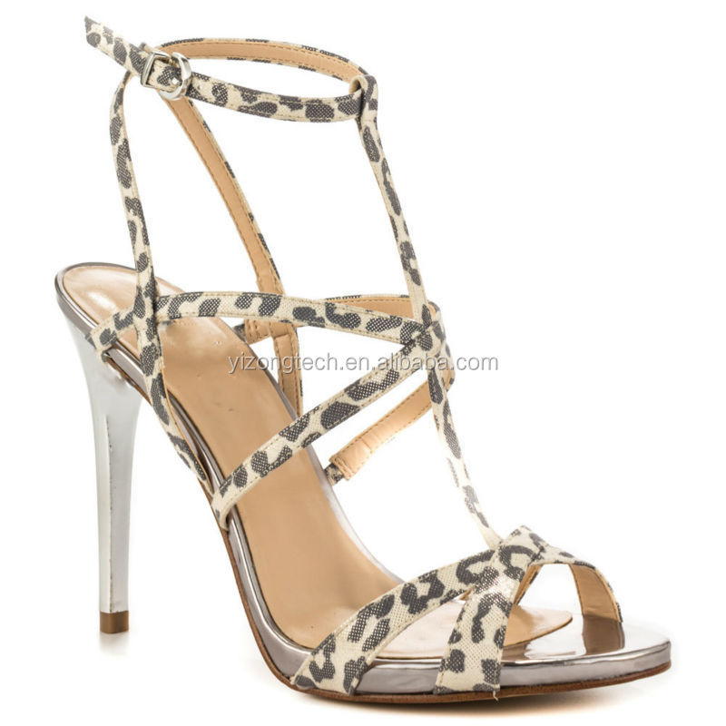 Wholesale JUSITY Sexy Leopard High Heel Thick Sole Sandals 2015 ...