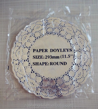 Aluminum Silver Gold Paper Placemats Colored Lace Doilies With All Sizes And Colours