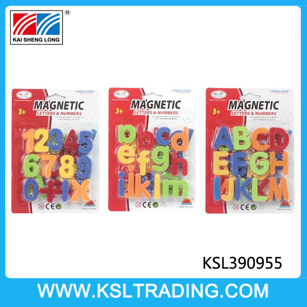Nice design 1.5 inches plastic kids cheap magnetic letters