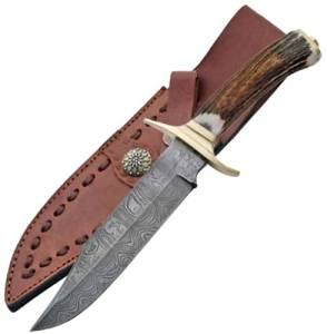 11in Damascus Bowie Knife Damascus Steel Bowie Knife Damascus Bowie Knives Damascus Steel Hunting Knife Damascus Hunting Knives Damascus Hunting Knife
