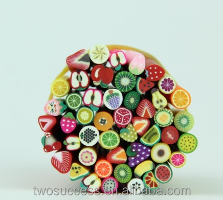 Hot sell polymer clay 3D nail art fruit slice , polymer clay fimo,Decoration nail art product