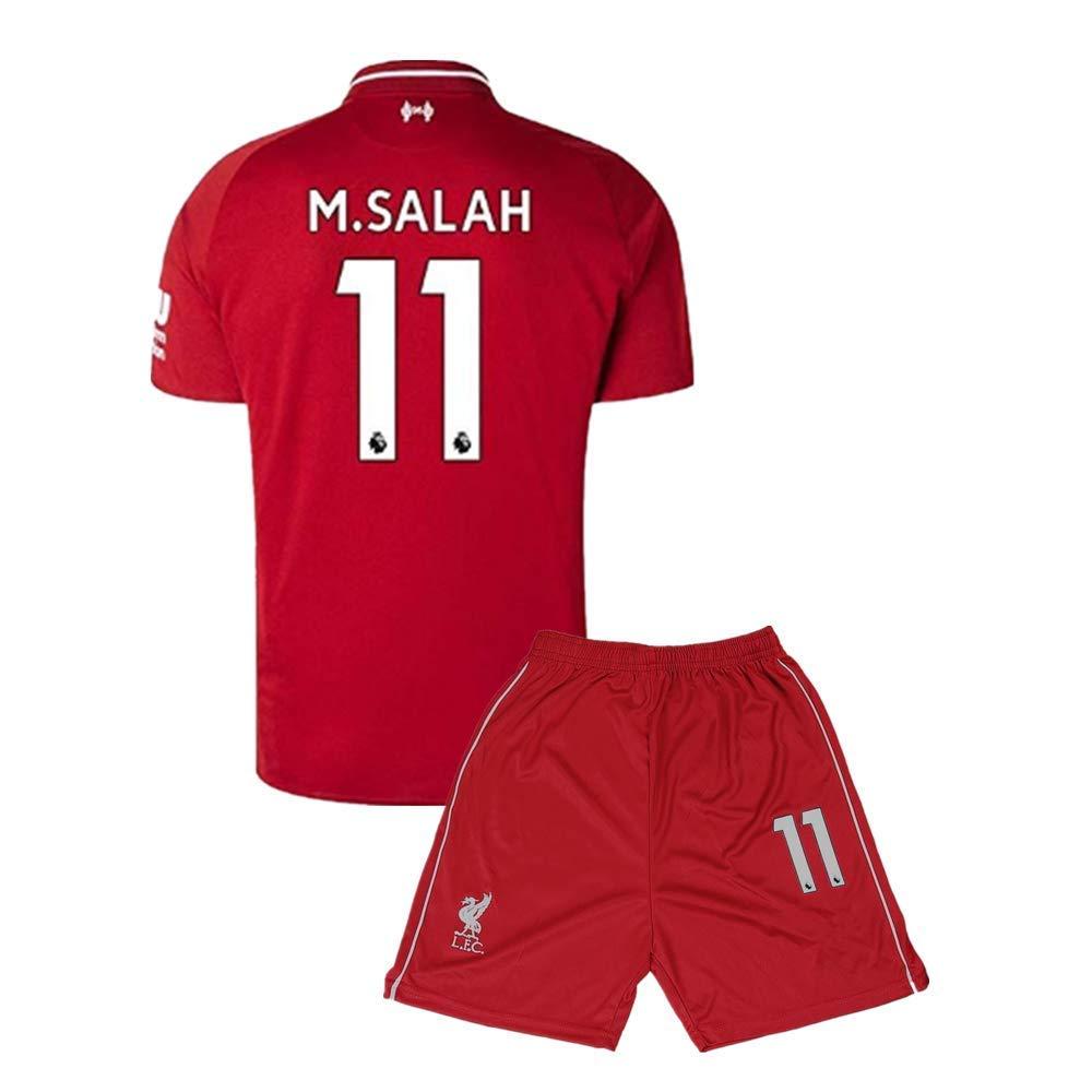 M Salah #11 Liverpool Home Soccer Jersey & Short Set Mens 2018-2019 Red
