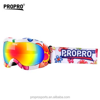 835d51c1487e Custom Multi Color Frame Child   Kids Ski Goggles Anti Fog Snow Goggles  Double Lens and